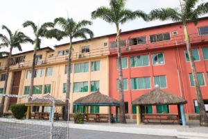The Lycee Français of Lagos building was extended